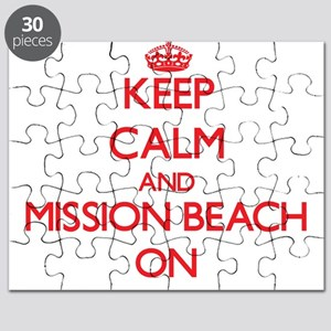 Keep calm and Mission Beach California ON Puzzle