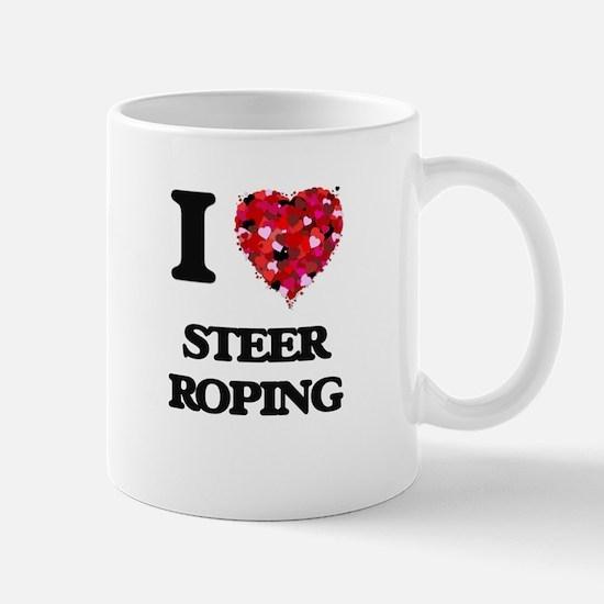 I Love Steer Roping Mugs