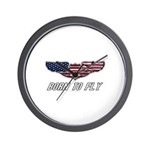 Born To Fly Version 1 Wall Clock