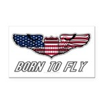 Born To Fly Version 1 Rectangle Car Magnet