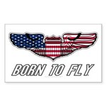 Born To Fly Version 1 Sticker (Rectangle 50 pk)