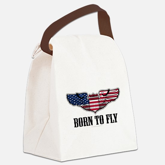Born To Fly Version 2 Canvas Lunch Bag