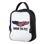 Born To Fly Version 2 Neoprene Lunch Bag