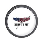 Born To Fly Version 2 Wall Clock