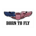 Born To Fly Version 2 35x21 Wall Decal