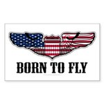 Born To Fly Version 2 Sticker (Rectangle 50 pk)