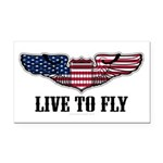 Live To Fly Version 2 Rectangle Car Magnet