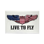 Live To Fly Version 2 Rectangle Magnet (100 pack)