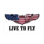 Live To Fly Version 2 35x21 Wall Decal
