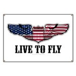 Live To Fly Version 2 Banner
