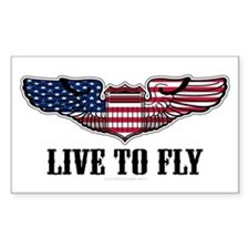 Live To Fly Version 2 Sticker (Rectangle 10 pk)
