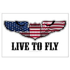 Live To Fly Version 2 Large Poster