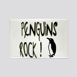 Penguins Rock ! Rectangle Magnet