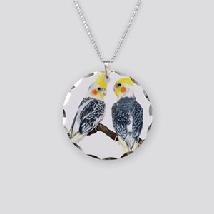 cockatiels Necklace Circle Charm