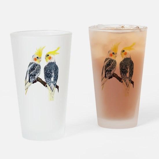 cockatiels Drinking Glass