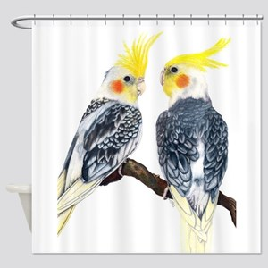 cockatiels Shower Curtain