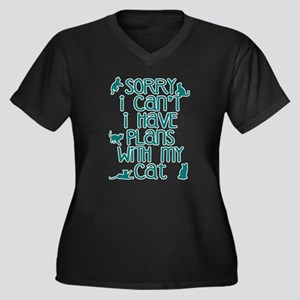Sorry Plans With My Cat Plus Size T-Shirt