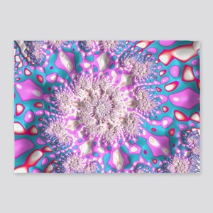 Wild Trippy Psychedelic Fractal Art 5'x7'Area Rug