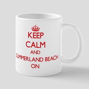Keep calm and Summerland Beach Californ Mug