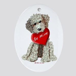 Labradoodle Love, Be Mine Oval Ornament