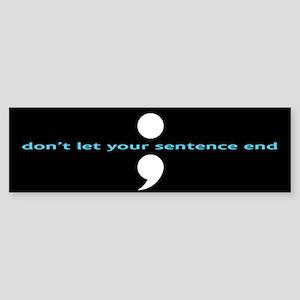 Semicolon Sticker (Bumper)