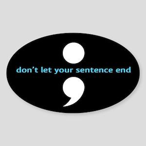 Semicolon Sticker (Oval)