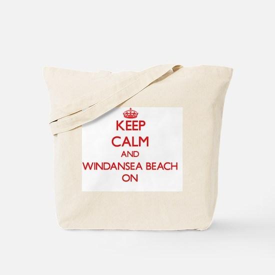 Keep calm and Windansea Beach California Tote Bag