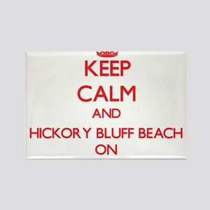Keep calm and Hickory Bluff Beach Connecti Magnets