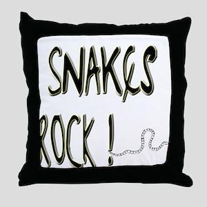 Snakes Rock ! Throw Pillow