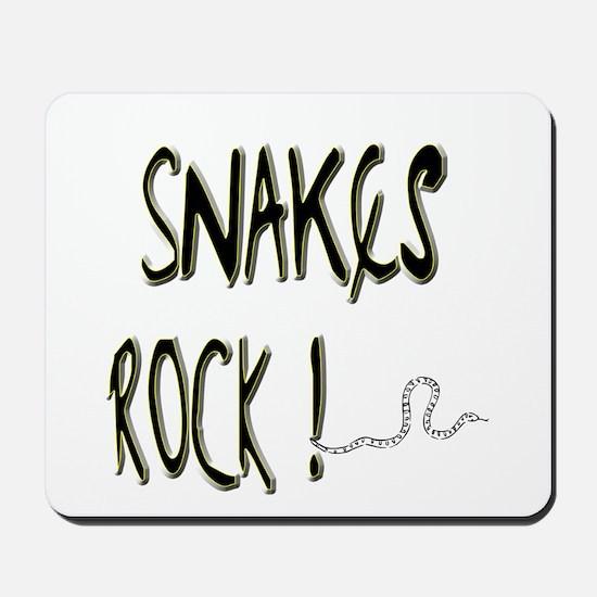 Snakes Rock ! Mousepad