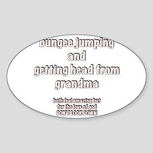 Bungee Grandma Sticker (Oval)