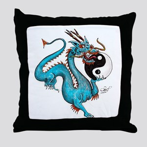 Painted Dragon Throw Pillow