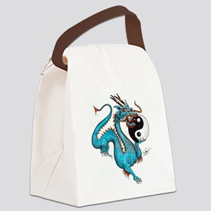 Painted Dragon Canvas Lunch Bag