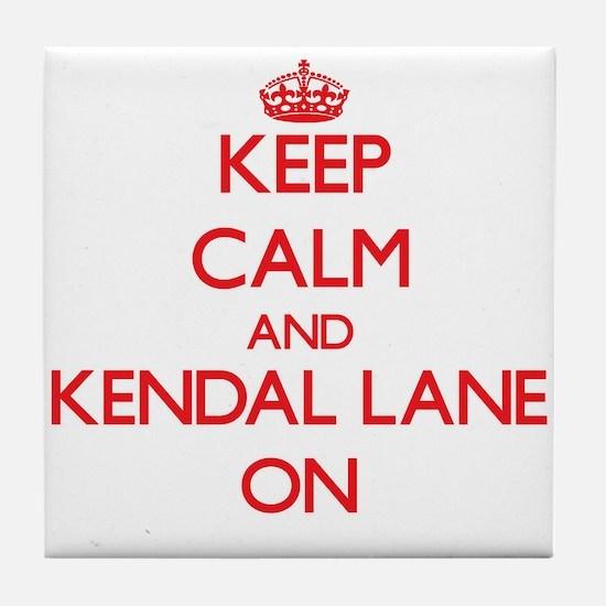 Keep calm and Kendal Lane Massachuset Tile Coaster