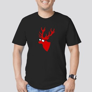 Christmas deer with nerd glasses T-Shirt
