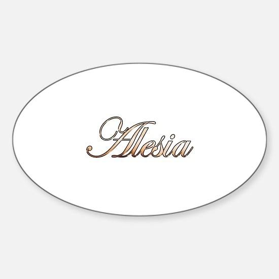 Gold Alesia Sticker (Oval)