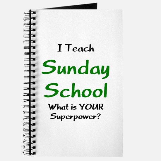 teach sunday school Journal