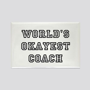 Worlds Okayest Coach Magnets