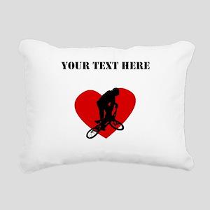 BMX Heart (Custom) Rectangular Canvas Pillow