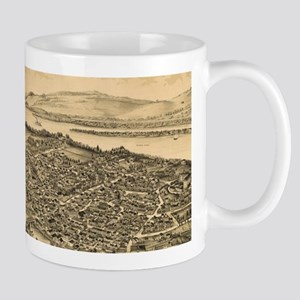 Vintage Pictorial Map of Catskill New York (1 Mugs