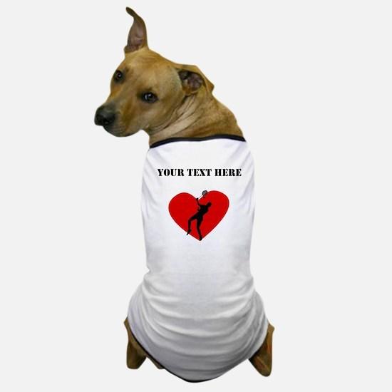 Badminton Heart (Custom) Dog T-Shirt
