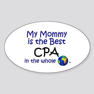 Best CPA In The World (Mommy) Oval Sticker