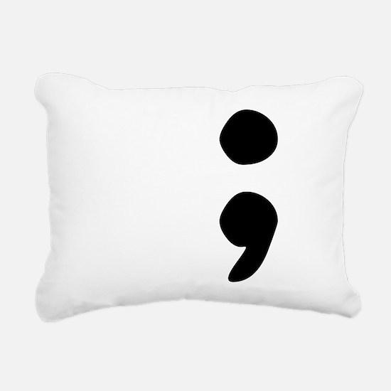 semicolon Rectangular Canvas Pillow