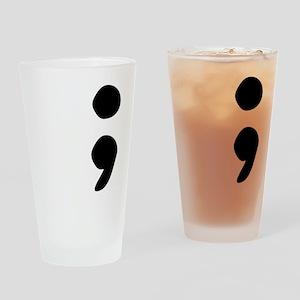 semicolon Drinking Glass