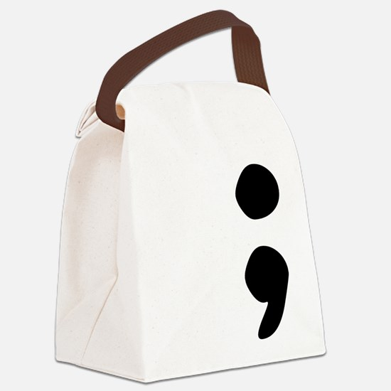 semicolon Canvas Lunch Bag