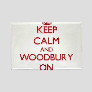 Keep calm and Woodbury Massachusetts ON Magnets