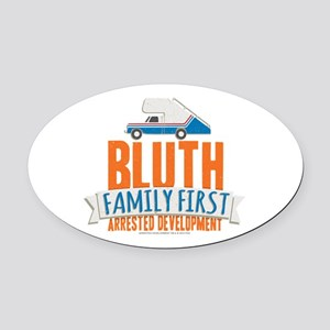 Arrested Development Family First Oval Car Magnet