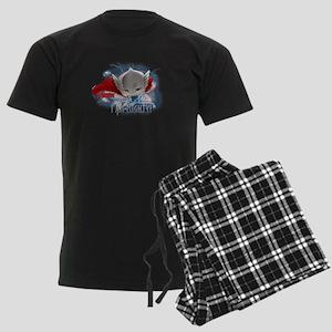 Chibi Mighty Thor Men's Dark Pajamas
