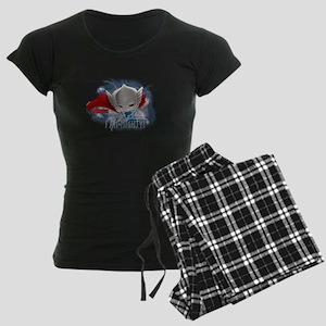 Chibi Mighty Thor Women's Dark Pajamas