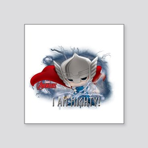 "Chibi Mighty Thor Square Sticker 3"" x 3"""